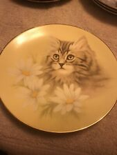 Spring Fever Cat Plate Petals & Purrs By Bib Harrison Hamilton Persian