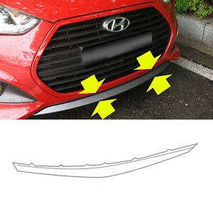 865802V500 Front Bumper Lip Lower UNPAINTED for 2013 2017 Hyundai Veloster Turbo