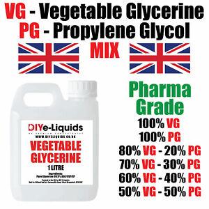 Vegetable Glycerine Propylene Glycol Mix EP/USP FOOD COSMETIC GRADE KOSHER VG PG