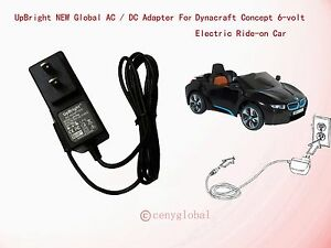 6V AC Adapter For Dynacraft BMW I8 Concept 6-volt Electric Ride-on Car Charger