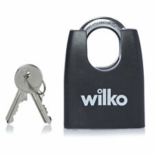 55mm Double Locking Laminated Steel Body Closed Shackle Padlock Saw Resistant