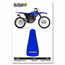 2005-2014 YAMAHA TTR 230 Black/Blue PLEATED SEAT COVER BY Enjoy MFG