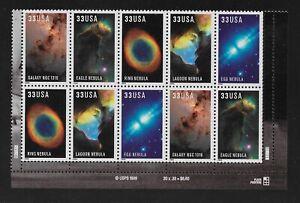 US #3388a MNH Plate Block CV$6.50 2000 Nebula Hubble [LR #S11111]