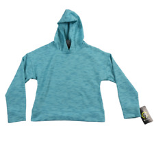 NWT C9 Champion Aqua Blue Breathable Hooded Sweatshirt Girls Size Medium (7-8)