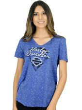 Harley-Davidson Womens Blue Chip Burnout Short Sleeve V-Neck T-Shirt