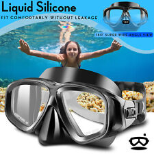 Swimming Anti-Fog Scuba Diving Face Tempered Glass Lens Snorkeling Goggles Adult