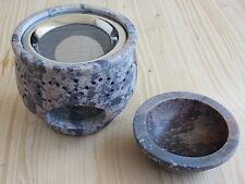 Räuchergefäß mit Sieb und Schale aus Speckstein - Räuchern, Weihrauch