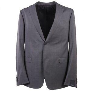 NWT $1595 Z ZEGNA Slim-Fit 'Drop 8' Solid Medium Gray Wool Suit 44 L (Eu 54L)