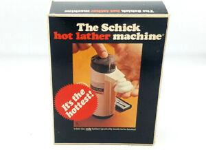 The Schick Hot Lather Machine Vintage Shaving Cream Warmer + Refill