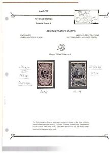 Italy AMG-FTT Trieste Large Revenue Stamp Collection Mint & Used - Group #3