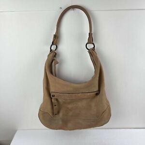 Frye Melissa Zip Hobo Women's Bag Beige Tan leather Shoulder Bag