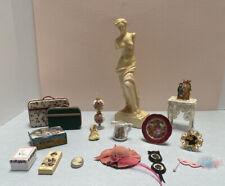 dollhouse miniature vintage victorian items limoges artisan items statue picture