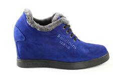 Baldinini Suede Italian  Boots  Winter Sizes 5,6,8,9 New Fur Blue