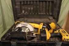 DeWalt 18V Fat Pack, Saw, Hammer Drill, Light, Battery & Charger, Tested & Work