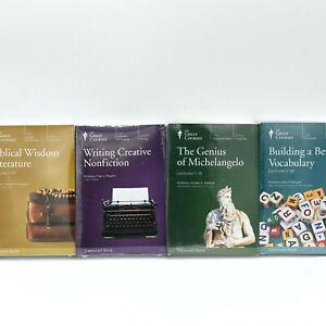 The Great Courses 4 Book Lot Genius of Michelangelo, Biblical Wisdom, Vocabulary