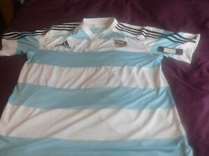 Mens Adidas Argentina Rugby Shirt XXL New with Tags, Clima Cool
