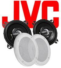 JVC Deckeneinbaulautsprecher 2-Wege Koax  10 cm weisse Blenden