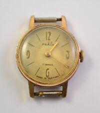 7J Made In Germany Gdr Vintage Ruhla Gold Plated Ladies Watch