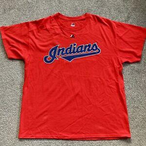 MLB Indians Majestic T Shirt 22 Kipnis Size Large Red
