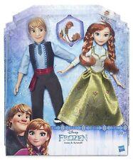 DISNEY FROZEN Bambole Anna e Kristoff - Confezione 2 Personaggi - Hasbro b5168
