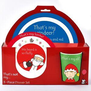 That's Not My Christmas 3 Piece Melamine Dinner Set for Kids