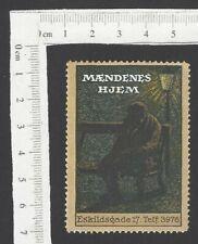 Denmark advertisement poster stamp Maendenes Hjem Mnh