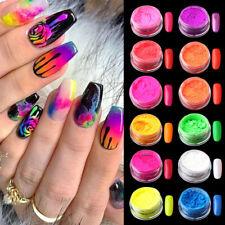 12 Colors Neon Nail Art Powder Pigment Glitter Born Pretty Butterfly Neon Nail