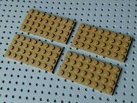 Lego Plate 4x8 [3035] Dark Beige x4