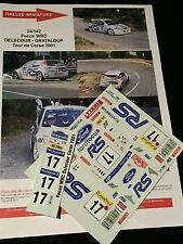 DECALS 1/24 FORD FOCUS WRC DELECOUR RALLYE TOUR DE CORSE 2001 RALLY TAMIYA