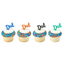 FATHERS DAY CUPCAKE PICKS  BAKERY BAKING CAKE DECORATION SET OF 24