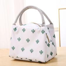 Portable Cartoon Cactus Travel Picnic Lunch Bag Tote Thermal Insulation Handbag