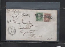 CANADA cover 1875 Straight Line Registered