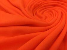neon orange color helenca Lining Spandex fabric 4 Way Stretch By Yard