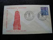 ESPAGNE - enveloppe 28/9/1977 (2eme choix enveloppe jaunie)(cy24)spain