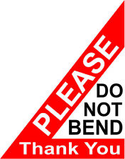 Please Do Not Bend Labels Stickers 40x50mm Laser Printed