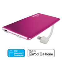 Naztech 3200mAh MFi Slim PowerBank w/Apple Lightning charging cable -For iPhones