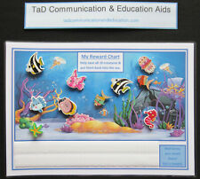 REWARD MOTIVATIONAL 10 FISH CHART - ADHD Autism SEN PECS Visual Behavioural Aid
