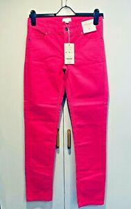 Ladies Monsoon Magenta Pink Jeans Summer Slim Leg Cotton UK Size 8 BNWT