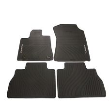Black All Weather Floor Mats Genuine for NEW Tundra Double Cab & Crew Max 12-13