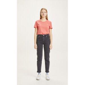 KnowledgeCotton Apparel Jeans Mom Fit Iris Black Rinse Bio Baumwolle GOTS Damen