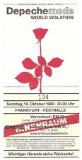 Depeche Mode  World Violation Tour 1990 Ticket/Konzertkarte/Eintrittskarte
