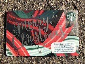 Starbucks Coffee 2018 Merry Christmas Gift Card Rare Australia