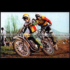#CP48 HARRY EVERTS HANS MAISCH 70'S CROSS Carte Postale Moto Motorcycle Postcard