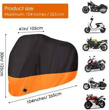 XXL Orange Motorcycle Cover For Harley Davidson Sportster Softail Fatboy Dyna HG