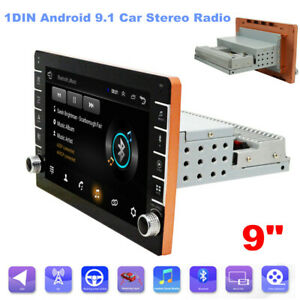 """9"""" 1 DIN Android 9.1 Car Stereo Radio GPS Navigation Wifi MP5 Player Quad Core"""