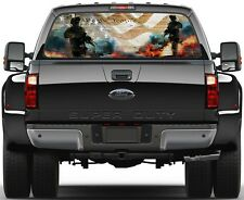 Army Strong We The People USA Flag  Rear Window Graphic Decal  Truck Van