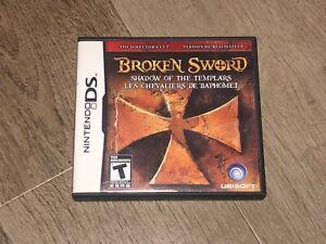 Broken Sword Shadow of the Templars Nintendo DS Complete CIB Authentic