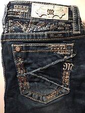 Miss Me Jeans Size 16 Boot Cut Rhinestones KE8447B3 Sku 121937
