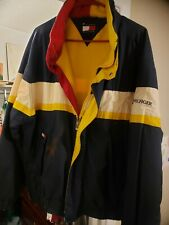 Vintage 90s Retro Tommy Hilfiger Colorblock Fleece Lined Jacket large