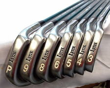 LYNX PARALLAX ~ 3 4 5 6 8 9 P ~ Iron Golf Club Set ~ (MISSING 7) ~ AWESOME!